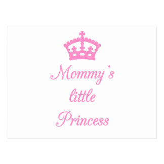 Mommy's little princess, text design with crown postcard