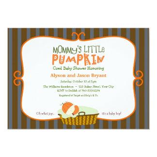 Mommy's Little Pumpkin Baby Shower 5x7 Paper Invitation Card