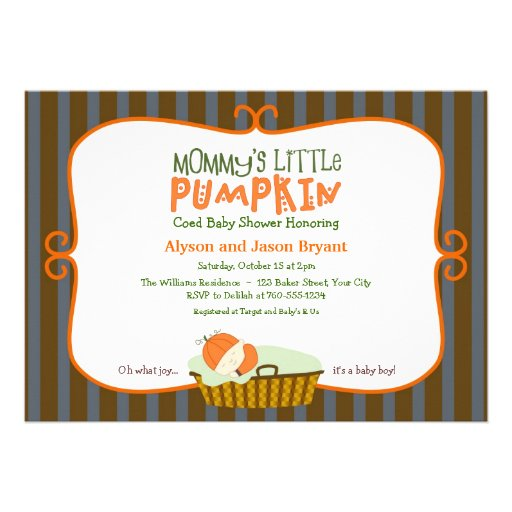 Little Pumpkin Baby Shower Invitations could be nice ideas for your invitation template