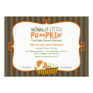 Mommy's Little Pumpkin Baby Shower Invitations