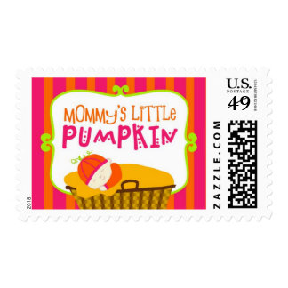 Mommy's Little Pumpkin, Girl Postage Stamp