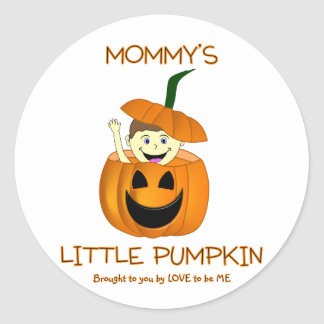 MOMMY'S LITTLE PUMPKIN - LOVE TO BE ME CLASSIC ROUND STICKER