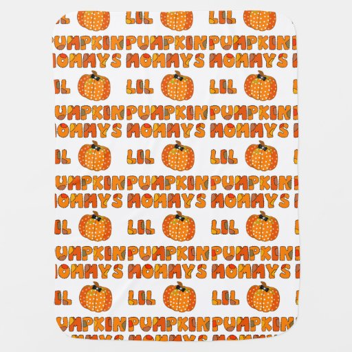 Mommys Little Pumpkin Stroller Blanket