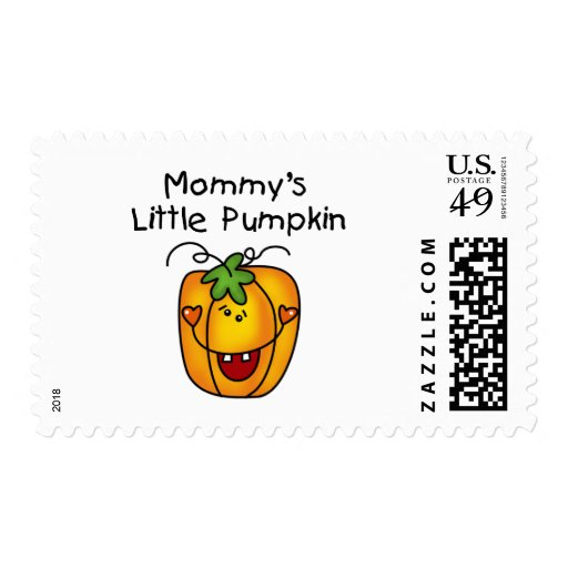 Mommy's Little Pumpkin T-shirts and Gifts Stamps