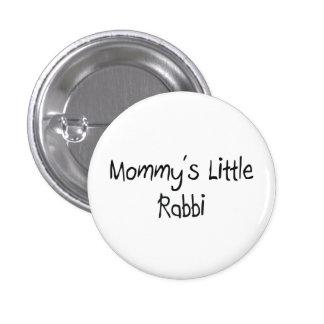 Mommys Little Rabbi 1 Inch Round Button