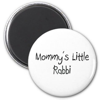 Mommys Little Rabbi 2 Inch Round Magnet