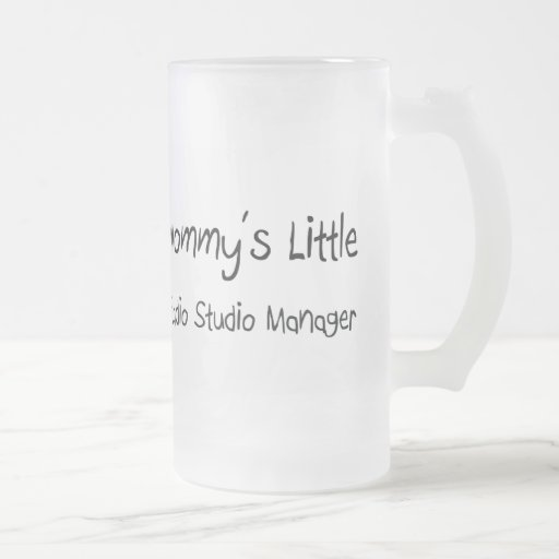 Mommys Little Radio Studio Manager 16 Oz Frosted Glass Beer Mug