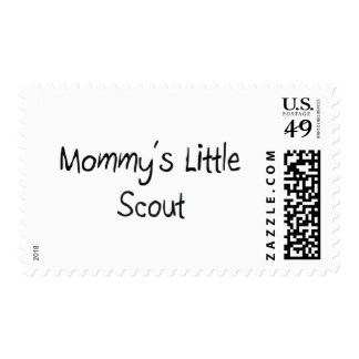 Mommys Little Scout Postage Stamp