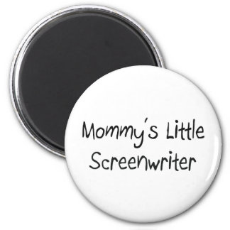 Mommys Little Screenwriter 2 Inch Round Magnet