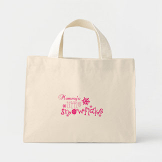 Mommy's little snowflake mini tote bag