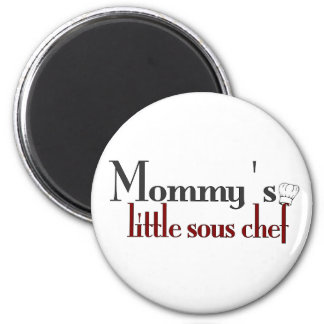 Mommy's little sous chef 2 inch round magnet