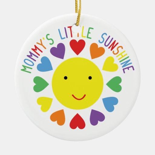 Mommy's Little Sunshine Christmas Ornaments