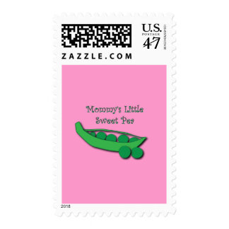 Mommy's Little Sweet Pea Postage Stamp