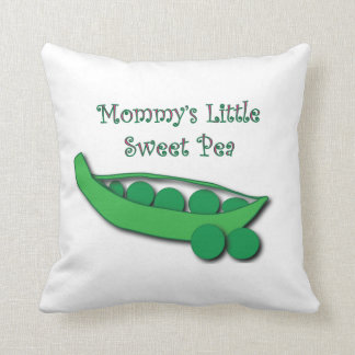 Mommy's Little Sweet Pea Throw Pillow