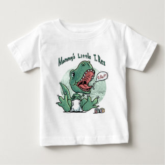 Mommy's Little T. Rex by Mudge Studios Baby T-Shirt