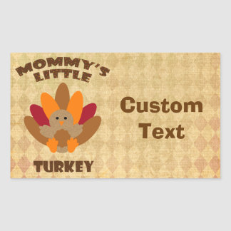 Mommy's Little Turkey Rectangular Sticker