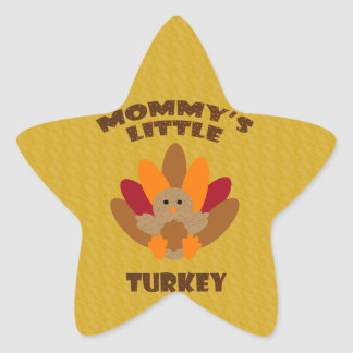 Mommy's Little Turkey Star Sticker