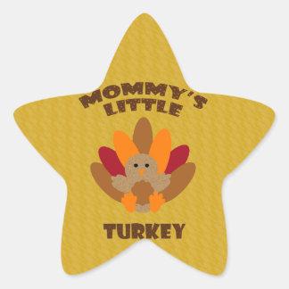 Mommy's Little Turkey Star Sticker