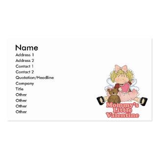 mommys little valentine blonde girl business card