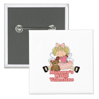 mommys little valentine blonde girl 2 inch square button
