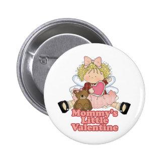mommys little valentine blonde girl 2 inch round button