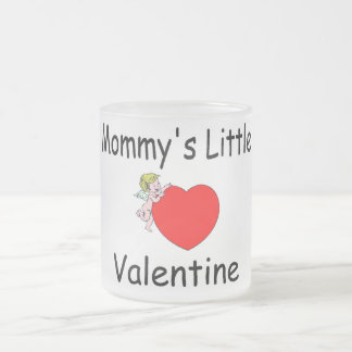 Mommy's Little Valentine Frosted Glass Coffee Mug