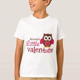 Mommy's Little Valentine Owl T-Shirt