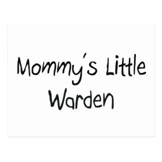 Mommys Little Warden Postcard