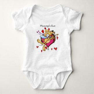 Mommy's love - Valentine puppy Baby Bodysuit