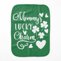 Mommys Lucky Charm Baby Burp Cloth