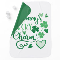Mommys Lucky Charm Swaddle Blanket