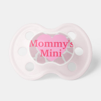 """Mommy's Mini"" Giraffe Print Pacifier"