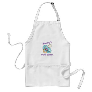 MOMMYS MUTE BUTTON ADULT APRON