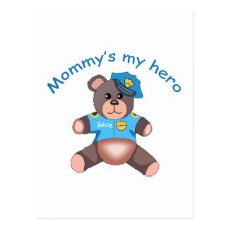 MOMMYS MY HERO POSTCARD
