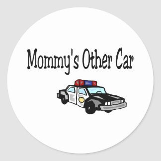 Mommy's Other Car Classic Round Sticker