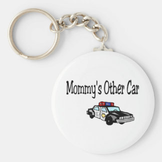 Mommy's Other Car Basic Round Button Keychain