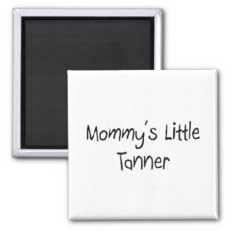 Mommys pequeño Tanner Imán Cuadrado