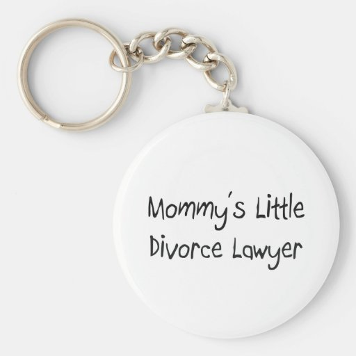 Mommys poco abogado de divorcio llavero redondo tipo pin