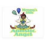 Mommys poco afroamericano autístico del ángel