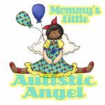 Mommys poco afroamericano autístico del ángel escultura fotográfica