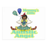 Mommys poco afroamericano autístico del ángel postal