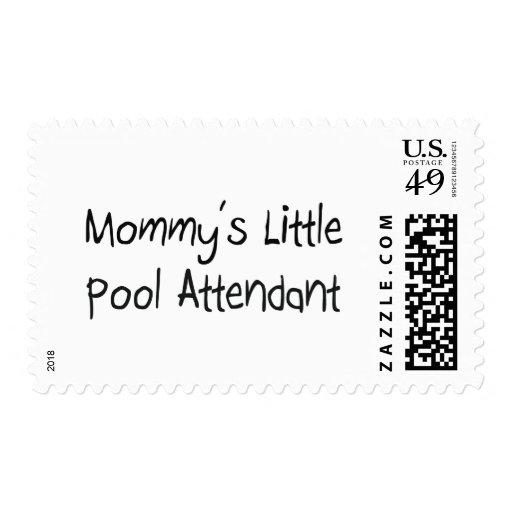 Mommys poco asistente de la piscina sello