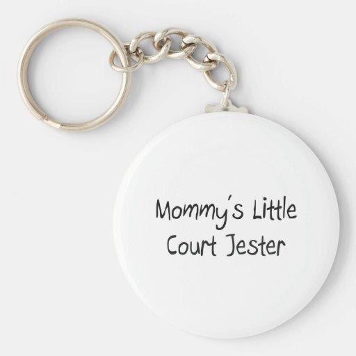 Mommys poco bufón de la corte llavero personalizado