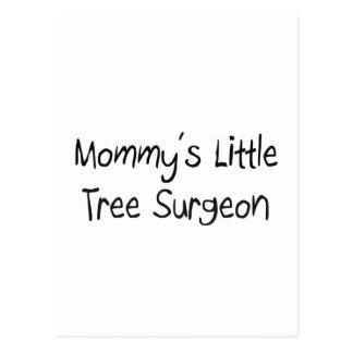 Mommys poco cirujano de árbol tarjetas postales