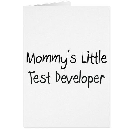 Mommys poco desarrollador de la prueba tarjeta de felicitación