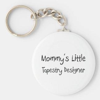 Mommys poco diseñador de la tapicería llavero redondo tipo pin