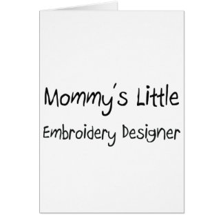 Mommys poco diseñador del bordado tarjeton