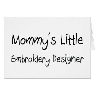 Mommys poco diseñador del bordado tarjeta