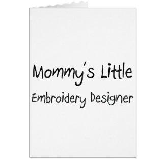 Mommys poco diseñador del bordado tarjetas