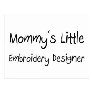 Mommys poco diseñador del bordado tarjeta postal